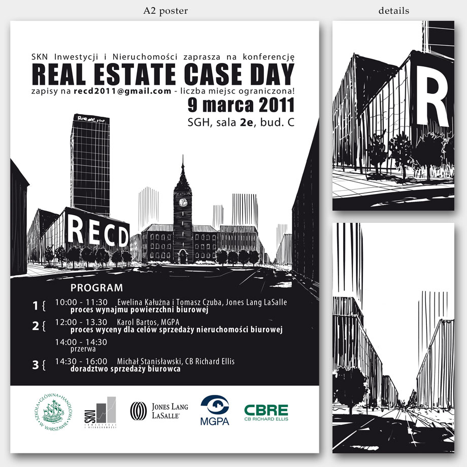 Real Estate Case Day 2011 graphics made using a Wacom tablet
